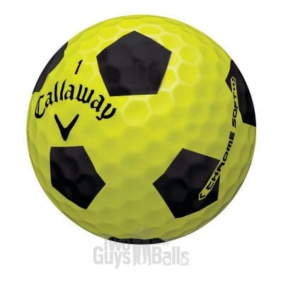 Callaway Chrome Soft Truvis Yellow and Black