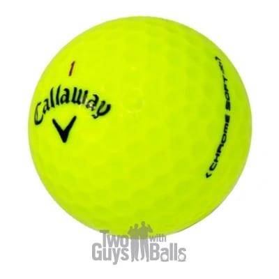 used callaway chrome soft x yellow golf balls