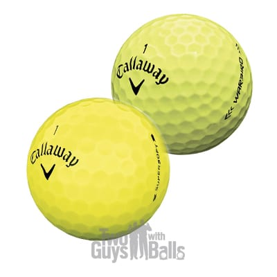 callaway yellow used golf balls