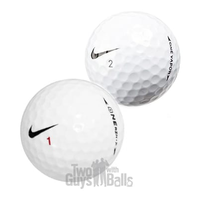 Nike One used golf balls