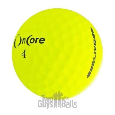 oncore elixr yellow used golf balls
