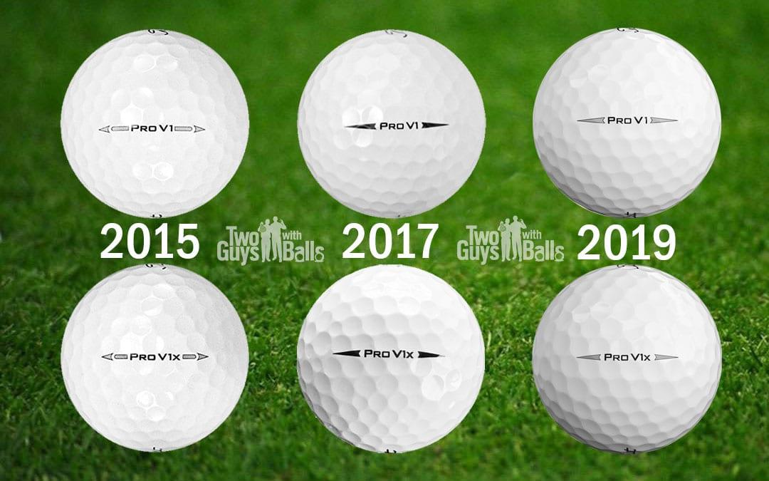 Titleist Pro V1 2015 vs 2017