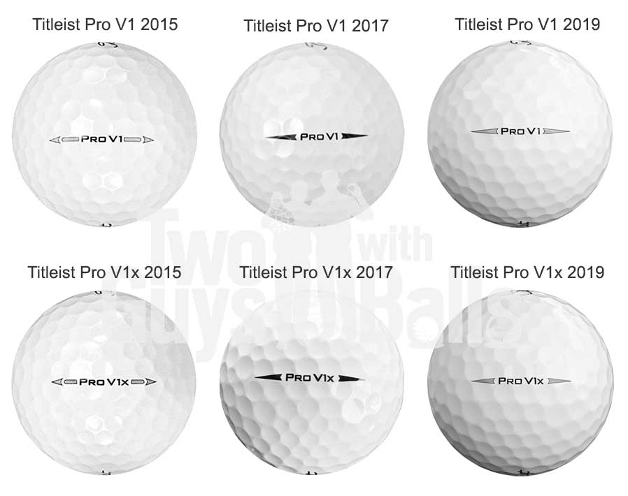 Pro V1/V1x 2019 vs 2017 vs 2015 Comparison