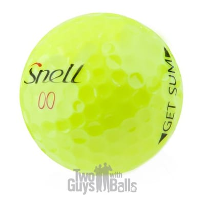 snell get sum yellow used golf balls