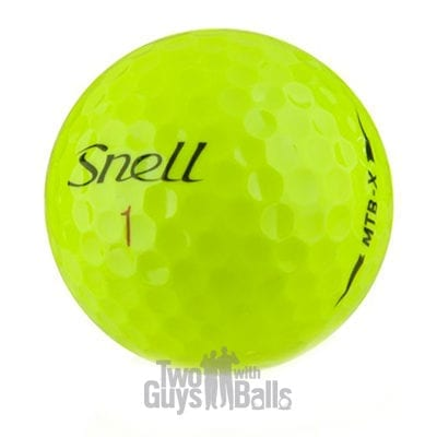 snell mtb x yellow used golf balls