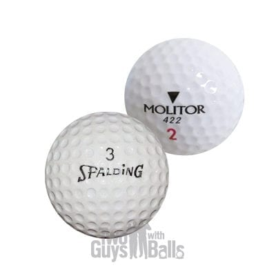 spalding used golf balls