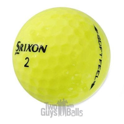 srixon soft feel yellow used golf balls