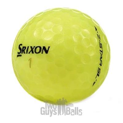 srixon z star sl yellow used golf balls