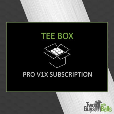 golf ball subscription pro v1x tee box