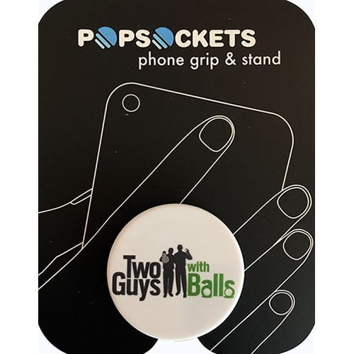 Two Guys Pop Socket White