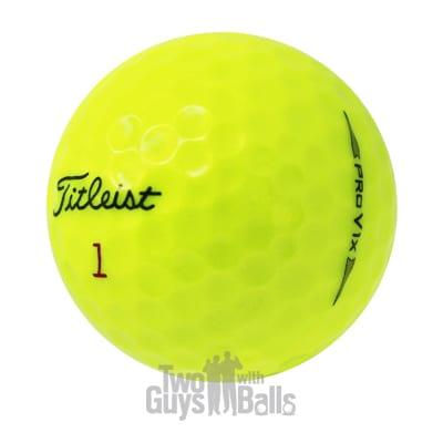 2019 pro v1x yellow used golf balls