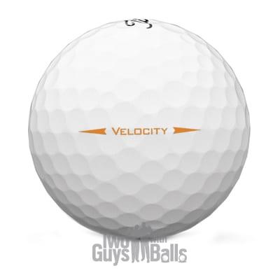 used titleist velocity visi white golf balls